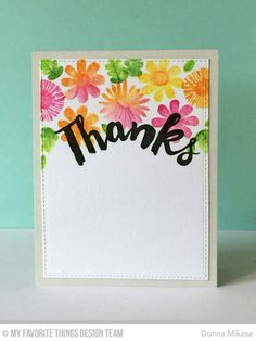Fall Florals, Thanks So Very Much - Donna Mikasa  #mftstamps