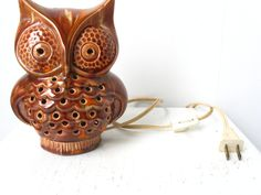 What A Hoot Retro Owl Lamp Vintage Kitsch by bigfishlilpond