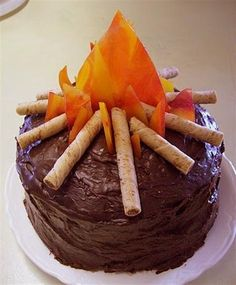 ... campfire cake girl scout boyscout birthday cake campfire cake how much
