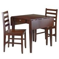 Shop Winsome Wood 94366 Hamilton Drop Leaf Dining Table Set With Drawer At Lowes Canada Find Our Selection Of Sets The Lowest Price Guaranteed