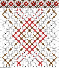 Friendship bracelet pattern 69338 new Kumihimo Bracelet, Bracelet Fil, Diy Bracelets Easy, Thread Bracelets, Woven Bracelets, Bracelet Crafts, Handmade Bracelets, Card Weaving, Diy Friendship Bracelets Patterns