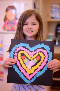 art for kids Use a specific color group for mosaic colors. A Place Called Kindergarten: all you need is love. Kinder Valentines, Valentine Crafts For Kids, Valentines Day Activities, Valentine's Day Crafts For Kids, Mothers Day Crafts, Arts And Crafts Movement, Kindergarten Art Projects, Kindergarten Classroom, Kindergarten Valentine Craft