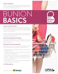 Find out more about Bunion Basics at www.apma.org/Bunion Ingrown Toenail Treatment, Tailors Bunion, Health Awareness Months, Home Health Remedies, Sprained Ankle, Podiatry, Heel Pain, Nerve Pain, Plantar Fasciitis