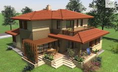 img.php (980×600) Village House Design, Kerala House Design, House Front Design, Village Houses, Modern House Design, Compound House, House Construction Plan, Small Balcony Design, Home Stairs Design