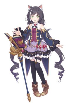 Kiruya Momochi (百地希留耶) is a Character in Princess Connect Re:Dive. She is a member of the guild'Gourmet Edifice'. Chica Anime Manga, Anime Chibi, Kawaii Anime Girl, Manga Pictures, Pictures To Draw, Female Character Design, Character Art, Anime Witch, Otaku