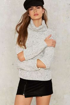 Zip Out Turtleneck Sweater