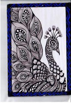 56 Ideas For Tattoo Mandala Design Zentangle Art Drawings Sketches Simple, Pencil Art Drawings, Bird Drawings, Tattoo Sketches, Black Pen Sketches, Black Pen Drawing, Drawing Ideas, Doodle Art Drawing, Mandala Drawing