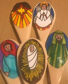 Flame: Creative Children's Ministry: DIY Nativity Story Spoons (print and colour in! Diy Nativity, The Nativity Story, Doubting Thomas, Apostles Creed, Advent Activities, Advent Season, Easter Story, Ash Wednesday, Creative Kids