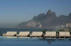 rooftop infinity pool at the Fasano Rio hotel in Rio de Janeiro, Brazil