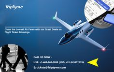 Book your flight tickets – Lowest Air Fare Guaranteed on TripTyme. Visit often for best prices and discounts along with great deals Air Fare, Flight Tickets, Flight And Hotel, Great Deals, Fighter Jets, Books, Libros, Airline Tickets, Book