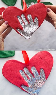 SALT DOUGH HANDPRINT ORNAMENT - such an easy salt dough recipe! Great for making salt dough handprints or salt dough ornaments. Learn how to make this Salt Dough Handprint Ornament to place on your Christmas Tree! This is the easiest salt dough recipe! Kids Crafts, Christmas Crafts For Kids, Diy Christmas Ornaments, Toddler Crafts, Holiday Crafts, Diy And Crafts, Christmas Tree, Salt Dough Christmas Decorations, Christmas Ideas