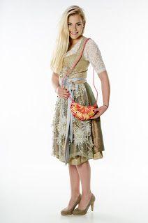 Holzhandtaschen: Halbmondförmige Umhängetasche, rosa-beige
