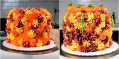 This Jaw-Dropping Fall Foilage Cake Is Mesmerizing The Internet Pumpkin Recipes, Fall Recipes, Holiday Recipes, Fall Cakes, Thanksgiving Menu, Frosting Recipes, Cupcake Cakes, Cupcakes, Desert Recipes