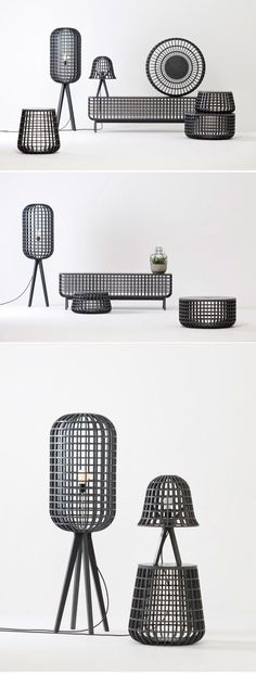 The 'Dami' is named from Korean verb means 'put in'. Dami series are consist of basket forms and covers and available for different and various usage depending on form and size. It shows visual beauty as well as the structure of Korean traditional grille Home Furniture, Modern Furniture, Furniture Design, Simple Furniture, Luxury Furniture, Furniture Inspiration, Design Inspiration, Deco Luminaire, Home And Deco