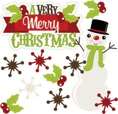 A Very Merry Christmas SVG Clipart Purchasse From Site