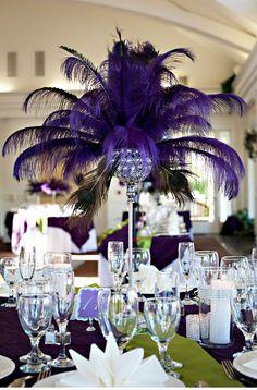 tendencias en bodas 2015 decoracion con plumas