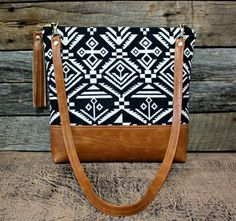 Navajo Southwestern Bag with Faux Leather Strap door SweetPeaTotes