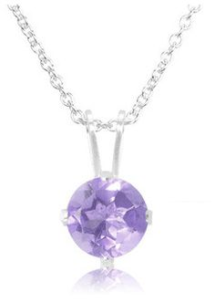 '1 Carat Genuine Amethyst Sterling Silver Necklace' is going up for auction at  5pm Sat, Mar 16 with a starting bid of $8.