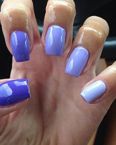 .purple ombre nails