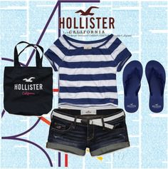 Hollister Co. Style, created by ahpay12 on Polyvore