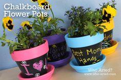 Chalkboard Flower Pots - Mother's Day Gift Idea!
