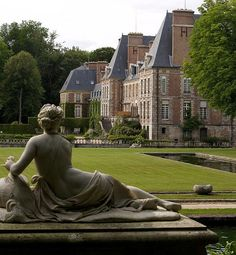 Château de Courances, at the western edge of the Forest of Fontainebleau, France