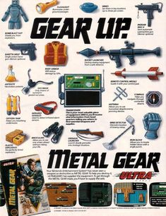"""Your Nintendo Entertainment System has never seen a weapon as destructive as METAL GEAR"" Vintage Video Games, Classic Video Games, Retro Video Games, Video Game Art, Retro Games, Metal Gear Solid, Nintendo, Videogames, Pc Engine"
