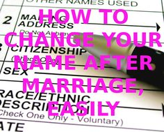 How to Change Your Name after Marriage, Easily | Simple, efficient and easiest way to change your name with all the info and websites to find where, when and what you need | #HowTo #Wedding #NameChange #Marriage