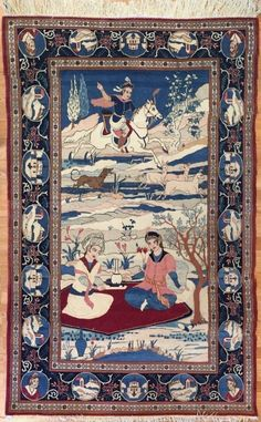 Handmade in the city of Kashan, Iran. In perfect condition. Size 55 inches x 85 inches. Persian Carpet, Persian Rug, Shaw Carpet, Iranian Art, Cheap Carpet Runners, Textiles, Kilim Rugs, Rugs On Carpet, Wool Rug