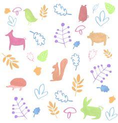Jelena Matriszenka #watercolor #watercolorillustration #illustration #watercolorart #art #akwarele #creature #cute #forest #animals #pattern #patterndesign