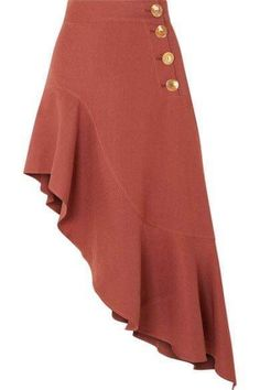 Terracotta linen-blend Button fastenings along side linen, polyester, polyurethane Machine wash Shell: South Korea Skirt Pants, Dress Skirt, Midi Skirt, Skirt Outfits, Cute Outfits, Vestidos Plus Size, Fashion Outfits, Womens Fashion, Casual