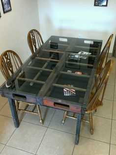 Firehouse table made out of vintage wooden ladders. Fort Walton Beach Fla. FD