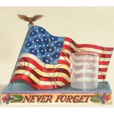 Never Forget...  Memorial Flag Candleholder