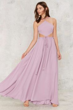 8441adf1166b Love this long lilac gown as a bridesmaid dress idea. Floor Length Dresses