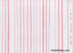 """""""collecting"""" fabric swatches...this one is a double gauze japanese fabric. don't the stripes look like they are hand-painted? I keep thinking of all the pretty things I could make for leftie with this...lovely!"""