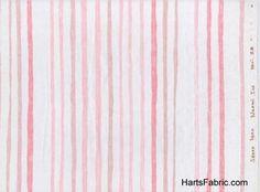 Stripe Double Gauze Japanese Fabric Pink