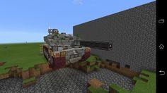 Tank with TNT rail cannon 4th model 16×9×12 Main gun TNTs for shell:64(anti-water) Penetration:14 blocks(average) Range:unlimited Armour Turret:3+2 blocks(Max) Hall:6 blocks(Max)