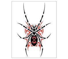 Black Widow Spider Wall Art Wall Decal at CafePress