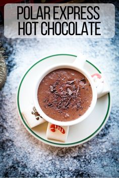 Hot cocoa as thick and rich as melted chocolate bars, just like how it is in the holiday classic The Polar Express. This creamy and soul warming hot chocolate is a holiday staple in our household. Chocolate Coffee, Melting Chocolate, Chocolate Bars, Chocolate Lovers, Healthy Appetizers, Healthy Breakfast Recipes, Easy Healthy Recipes, Winter Drinks, Winter Food