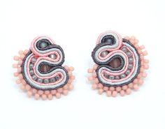 Beautiful soutache earrings  professional handmade  by martazare, zł100.00
