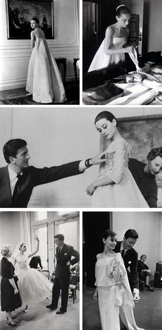 Audrey Hepburn and Hubert de Givenchy - one of the great fashion pairings of all time.