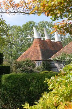 Oast houses, Kent, England.