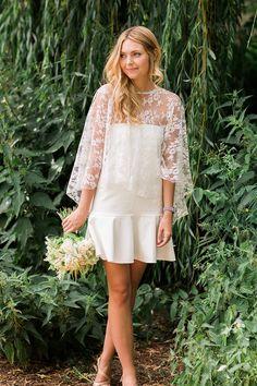 Kurzes #Brautkleid für die standesamtliche #Hochzeit | von Rime Arodaky