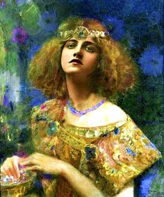 Gaston Bussière Bussière studied at the Academy of fine arts of Lyon before entering the workshop of Pierre Puvis de Chavannes and Alexandre Cabanel at the école des beaux-arts in Paris. In 1884, he wins Marie Bashkirtseff and exhibited at the Salon in 1885.