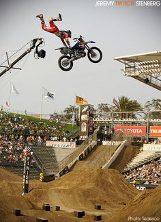 Xgames For Your Afternoon Viewing Pleasure Extreme Motocross, Offroad And Motocross, Motocross Racing, Fox Racing, Street Bikes, Road Bikes, Dirt Bike Racing, Dirt Biking, Kawasaki Dirt Bikes