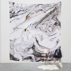 Chic Marble Wall Tapestry by Sara Eshak | Society6