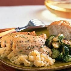 Chicken Thighs with Roasted Apples and Garlic ~ Click For Recipes #recipes #cooking #food #chicken