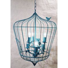 Creative Co-op Turquoise Birdcage Chandelier from Elizabeth's Embellishments