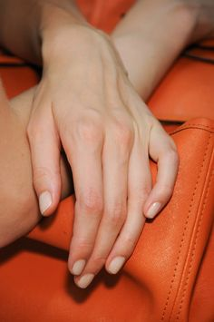 Matte 'Bone' manis for the Jen Kao Collection Spring 2013 #nyfw