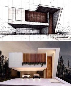 47 inspiring modern house design ideas 2019 11 House Designs Exterior design house ideas Inspiring modern The Effective Pictures We Offer You About lake House A quality picture can tell you many thing Modern Architecture Design, Minimalist Architecture, Facade Design, Facade Architecture, Concept Architecture, Modern House Design, Exterior Design, Architecture Images, Beautiful Modern Homes